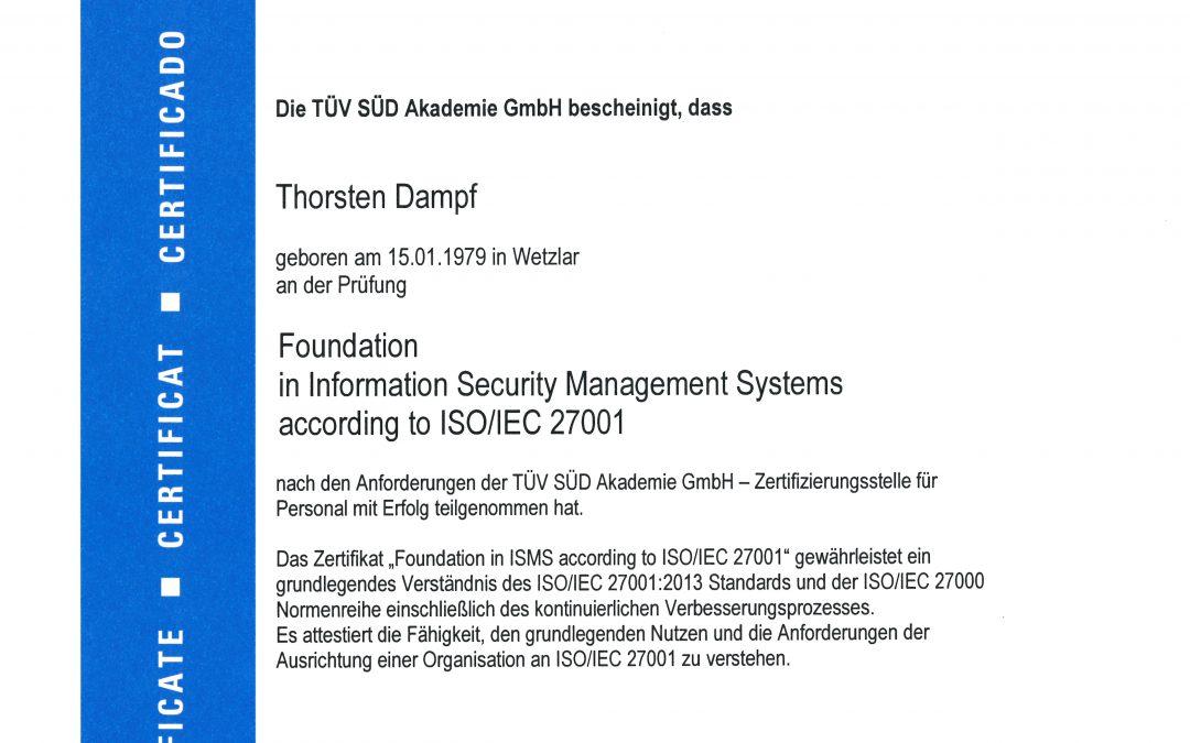 Informationssicherheit mit System – ISO 27001